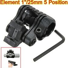 "5 Position 1"" 25.4mm Ring Flashlight Torch Laser Mount for 20mm Picatinny Rail"