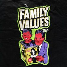 Vintage FAMILY VALUES 1999 TOUR T-SHIRT KORN PRIMUS METHOD MAN REDMAN wu-tang