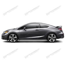 For: HONDA CIVIC COUPE Painted Body Side Moldings W/ Color Insert Trim 2012-2015