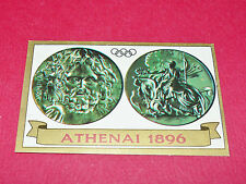 N°12 MEDAILLE 1896 PANINI OLYMPIA 1896 - 1972 JEUX OLYMPIQUES OLYMPIC GAMES