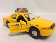 "CITY YELLOW CAB TAXI CAR, 5"" DIECAST, PULL BACK AND GO, TOYS, BOYS,GIRLS."