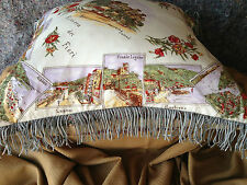**VINTAGE ITALIAN, EUROPEAN DOWN AND FEATHER, SILK PILLOW, from MILAN - IVORY**