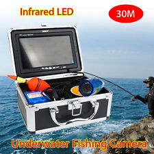 "30m 7"" LCD Infrared IP68 HD 1000TVL Underwater Fishing Video Camera Fish Finder"
