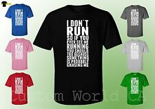 Funny I don't Run so If you ever See me Running Men tee Gift ideas Shirt Run Fun