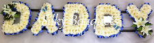 Artificial Silk Funeral Flower 5 Letter Daddy Chrysanthemum Tribute Wreath False