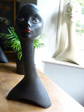 Vintage grand col de cygne mannequin buste head shop display millinery bijoux