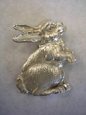 RABBIT PIN IN STERLING SILVER