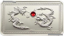 Palau 2012 Year of Dragon Enchase Crystal 5 Dollars Silver Coin,Proof