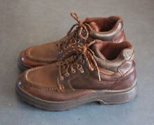 Earth Shoe Mens Brown Leather Hiking Work Ankle Boots size 10