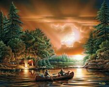 White Mountain Puzzles Evening Rendezvous 1000 Piece Jigsaw Puzzle Terry Redlin