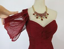 Jovani USA Designer NWT Long Size 6 Prom Formal Evening Gown Dress New Cranberry