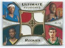 2008-09 Ultimate Sharpe Hibbert Hickson Alexander QUAD 4 JERSEY RELIC RC 46/50
