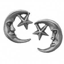 New listing   		925 Sterling Silver Earrings Moon and Star Posts Studs Tiny Mini