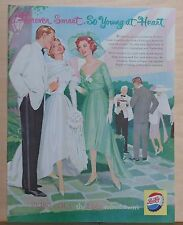 1959 magazine ad for Pepsi-Cola - Forever Smart, wedding party, Young at Heart