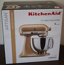 NEW KitchenAid Artisan Series 5 Qt Stand Mixer KSM150PS Golden Shimmer Tilt Head