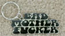 PULP FICTION ~ BAD MOTHER F*CKER ~ SILVER & BLACK KEY CHAIN ~ NEW & VERY COOL!!