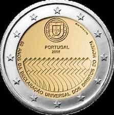 Portogallo 2008  2 €  Diritti dell'uomo   FDC