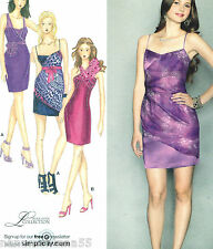 Simplicity 2251*Evening Prom Formal Party Short or Mini Dress Pattern*4-12*FF