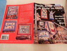 Hook Line and a Hole In One Men's Quilts Golf Ducks Fishing Dog Carpenter Tools