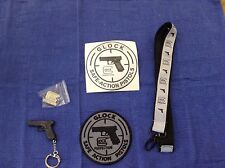 GLOCK Accessories Pack (Keychain, Velcro patch, laynard, sticker decal and pin)