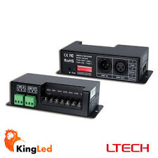 Decoder DMX512 RGB+W Controller Dimmer LED 24A DC5-24V DMX-512 LT-840-6A 0580