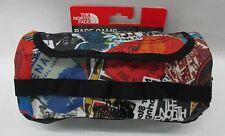 North Face Base Camp Travel Canister Bag ASTP TNF Red Sticker Bomb Print/Black