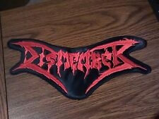 DISMEMBER,SEW ON RED EMBROIDERED LARGE BACK PATCH