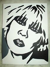 Canvas Painting Farscape Gigi Edgley as Chiana A B&W 16x12 inch Acrylic