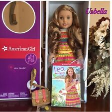 American Girl Lea Clark Doll of the Year & Book Necklace & Messenger Bag NEW BOX