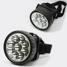 TORCIA LUCE LAMPADA DA TESTA 9 LED PER PESCA CAMPEGGIO CACCIA ESCURSIONI BICI