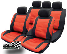 Red and Black Seat covers full set Seat Covers Universal Fit Protectors NEW