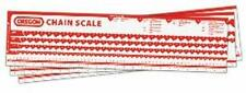 Oregon Saw Chain reference chart scale defines type, pitch & gauge