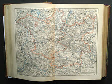 1893.Mappa Geografica BRANDENBURGO Land Germania.BERLINO..MEYERS Scala 1:250000