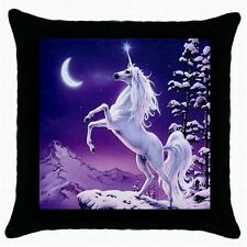 SET OF 2 PURPLE  UNICORN GIRLS BEDROOM  LOUNGE CUSHION THROW PILLOW CASE COVERS