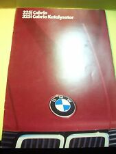 Original Prospekt Sales Brochure BMW 325i  Cabrio / Katalysator  Technisches