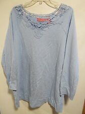 Woman Within plus size 1X Blue long sleeve Lot#14