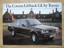 TOYOTA CORONA LIFTBACK GL 1979 UK Mkt Sales Brochure