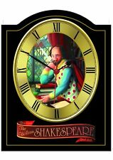 SHAKESPEARE Pub Sign WALL CLOCK for your Home Bar, Man Cave or Pub Shed