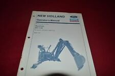 New Holland BH-134 Backhoe Operator's Manual CHPA