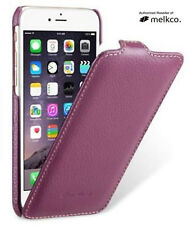 "Melkco PURPLE Leather Flip Down Case for Apple iPhone 6/6s"" - Jacka Type"