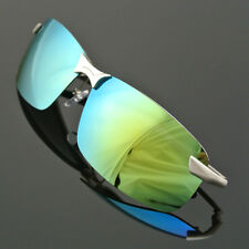 Men's Mirrored Lens Driving Glasses Polarized Aviator Sunglasses Sports Eyewear