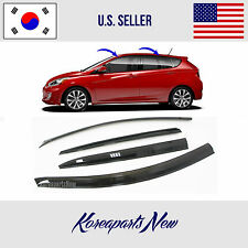 SMOKED DOOR WINDOW VENT VISOR DEFLECTOR A139 HYUNDAI ACCENT HATCHBACK 2012-2016