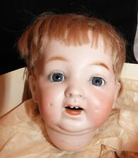 Antique Morimura Bros Doll Head O/S Eyes, 2,7 Mks, HP Brows & Lashes, Dimples