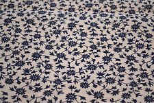 Japanese Cotton Fabric Blue and White Flowers 1057