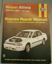 Haynes Nissan Altima Repair Manual 1993 thru 2001