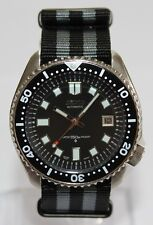 SEIKO 7002-7000 Vintage Diver Watch 6105 Dial Automatic Bond Nylon Strap