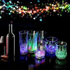 LED Glowing Mug Water liquid Inductive Light-up Drink Wine Glass Cup New