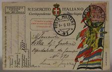 POSTA MILITARE 97 1.6.1918 FRANCHIGIA 13° REPARTO D'ASSALTO ARDITI #XP443B