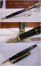Stilografica Crocodile S300 black Fountain Pen - Stylo Nib two-tone siz. M