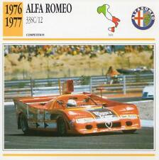 1976-1977 ALFA ROMEO 33SC/12 Racing Classic Car Photo/Info Maxi Card